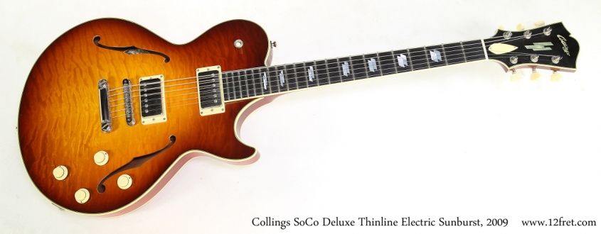 Collings SoCo Deluxe Thinline Electric Sunburst, 2009   Full Front View