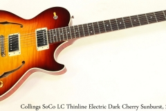 Collings SoCo LC Thinline Electric Dark Cherry Sunburst, 2015 Full Front View