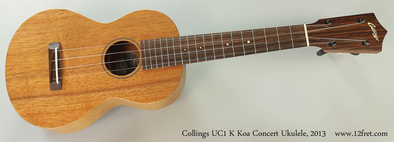 Collings UC1 K Koa Concert Ukulele, 2013 Full front View