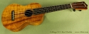 Collings UC1 Koa Ukulele front view