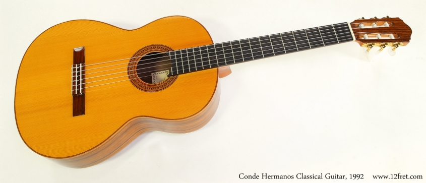 Conde Hermanos Classical Guitar, 1992  Full Front View