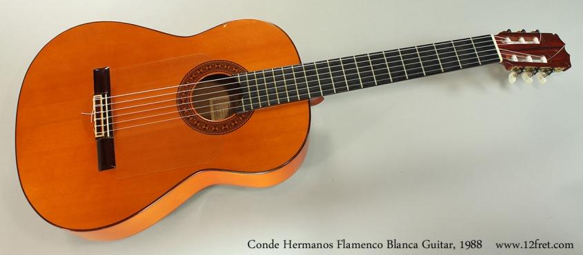 Conde Hermanos Flamenco Blanca Guitar, 1988 Full Front View
