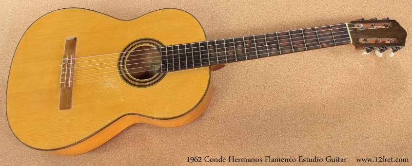 1962 Conde Hermanos Flamenco Estudio Guitar full front view