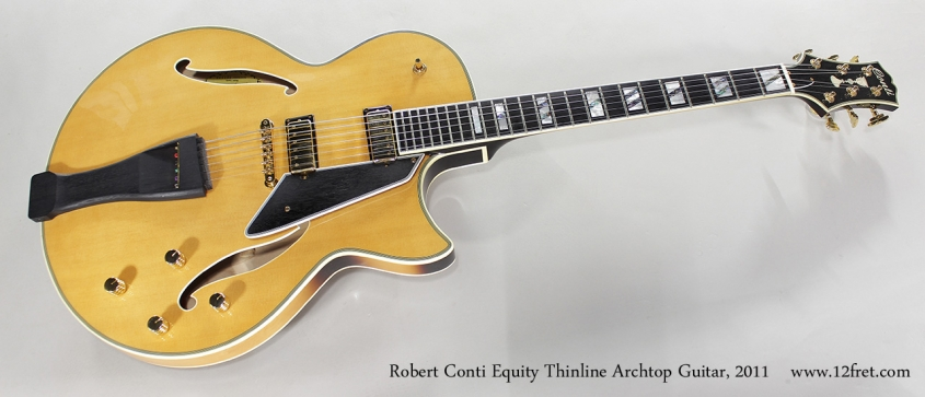 Robert Conti Equity Thinline Archtop Guitar, 2011 Full Front View