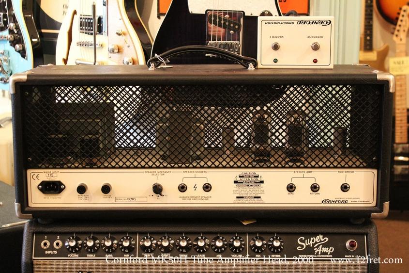 Cornford MK50H Tube Amplifier Head, 2000 Full Rear View