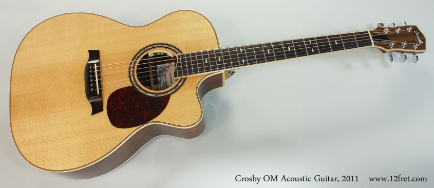 Crosby OM Acoustic Guitar, 2011 Full Front View