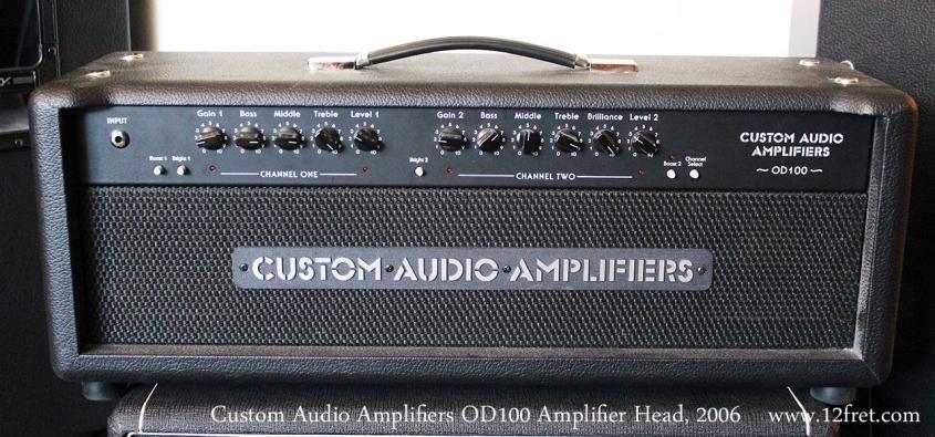 Custom Audio Amplifiers OD100 Amplifier Head, 2006 Full Front View