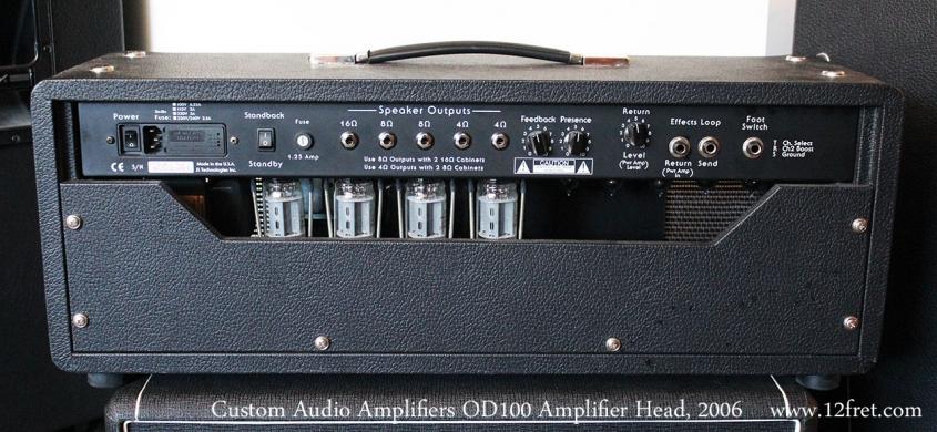 Custom Audio Amplifiers OD100 Amplifier Head, 2006 Full Rear View