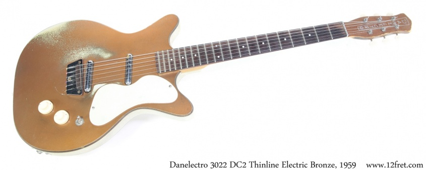 Danelectro 3022 DC2 Thinline Electric Bronze, 1959 Full Front View