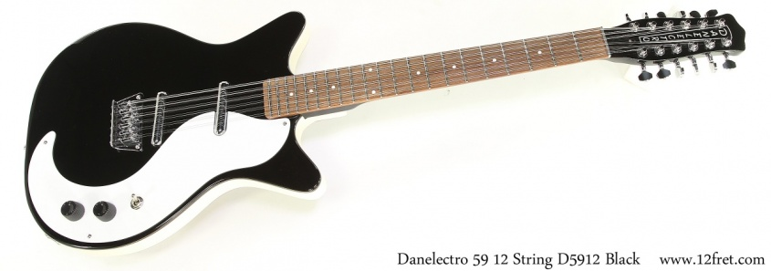Danelectro 59 12 String D5912 Black Full Rear View