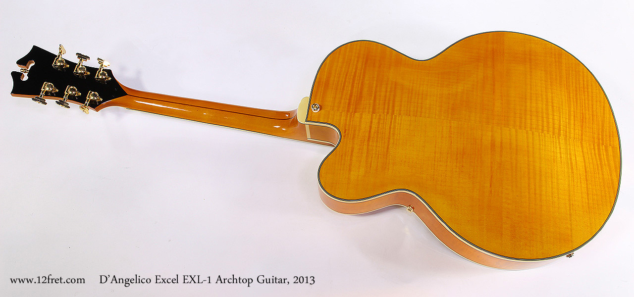 D'Angelico Excel EXL-1 Archtop Guitar, 2013 Full Rear View