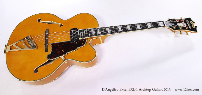 D'Angelico Excel EXL-1 Archtop Guitar, 2013 Full Front View