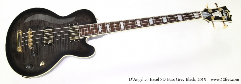 D'Angelico Excel SD Bass Grey Black, 2015  Full Front View