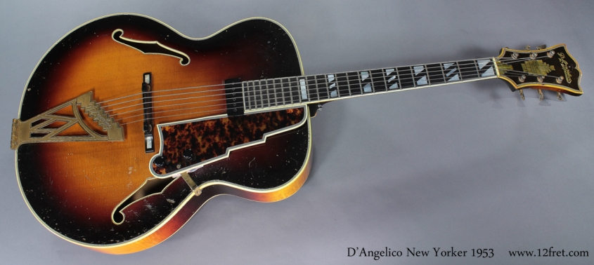 D'Angelico New Yorker 1953 full front view