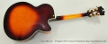 D'Angelico NYL-2 Vestax Left Handed Archtop Guitar Sunburst, 2001 Full Rear View