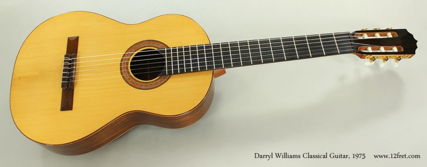 Darryl Williams Classical Guitar, 1975 Full Front View