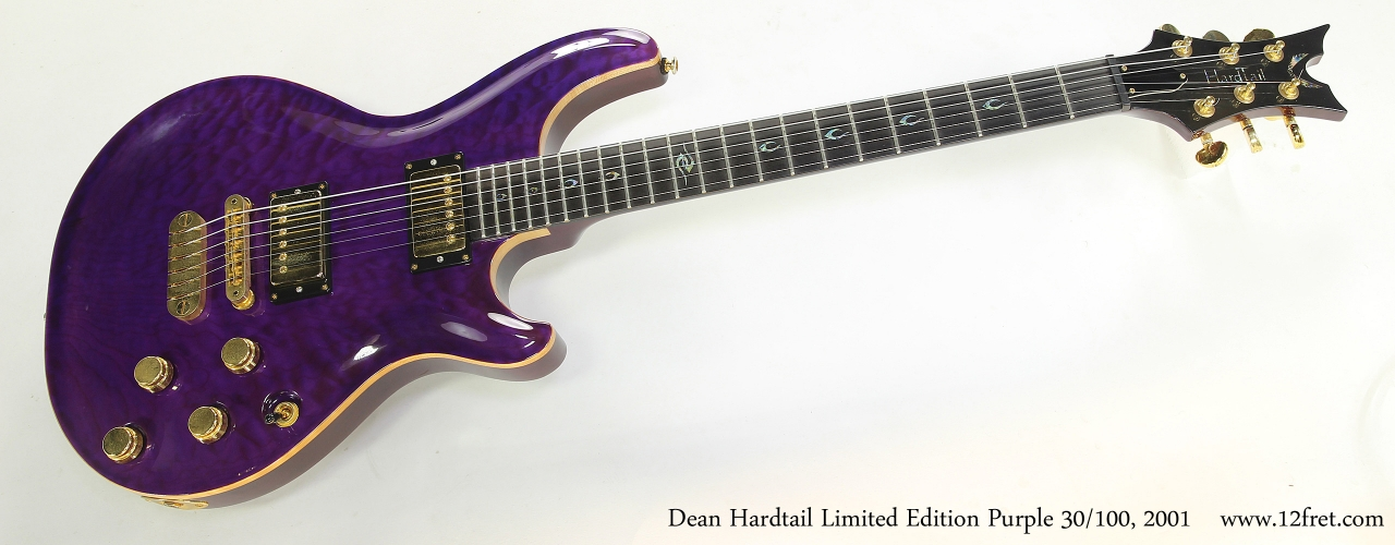 Dean Hardtail Limited Edition Purple 30/100, 2001  Full Front View