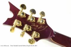 Dean Hardtail Limited Edition Purple 30/100, 2001  Head Rear View
