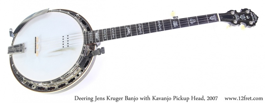 Deering Jens Kruger Banjo with Kavanjo Pickup Head, 2007 Full Front View