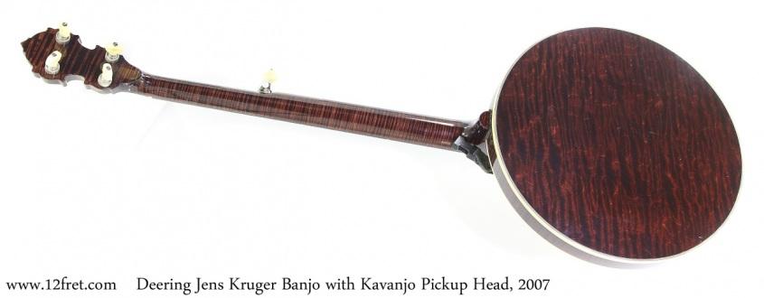Deering Jens Kruger Banjo with Kavanjo Pickup Head, 2007 Full Rear View