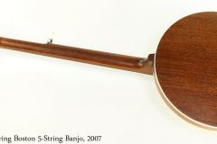 Deering Boston 5-String Banjo, 2007 Full Rear View
