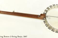 Deering Boston 5-String Banjo, 2007 Full Rear Open View
