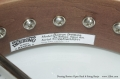 Deering Boston Open Back 6 String Banjo Label