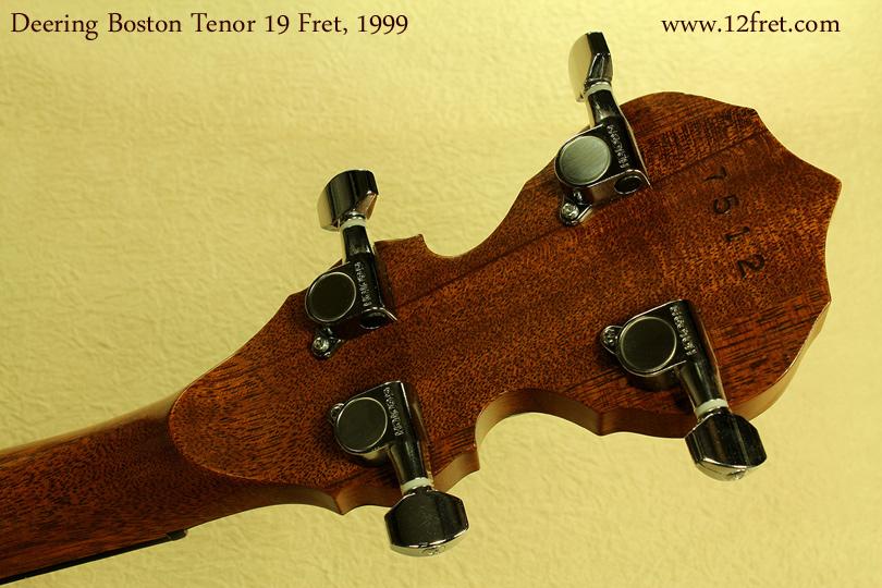 Deering Boston 19-Fret Tenor, 1999 head rear