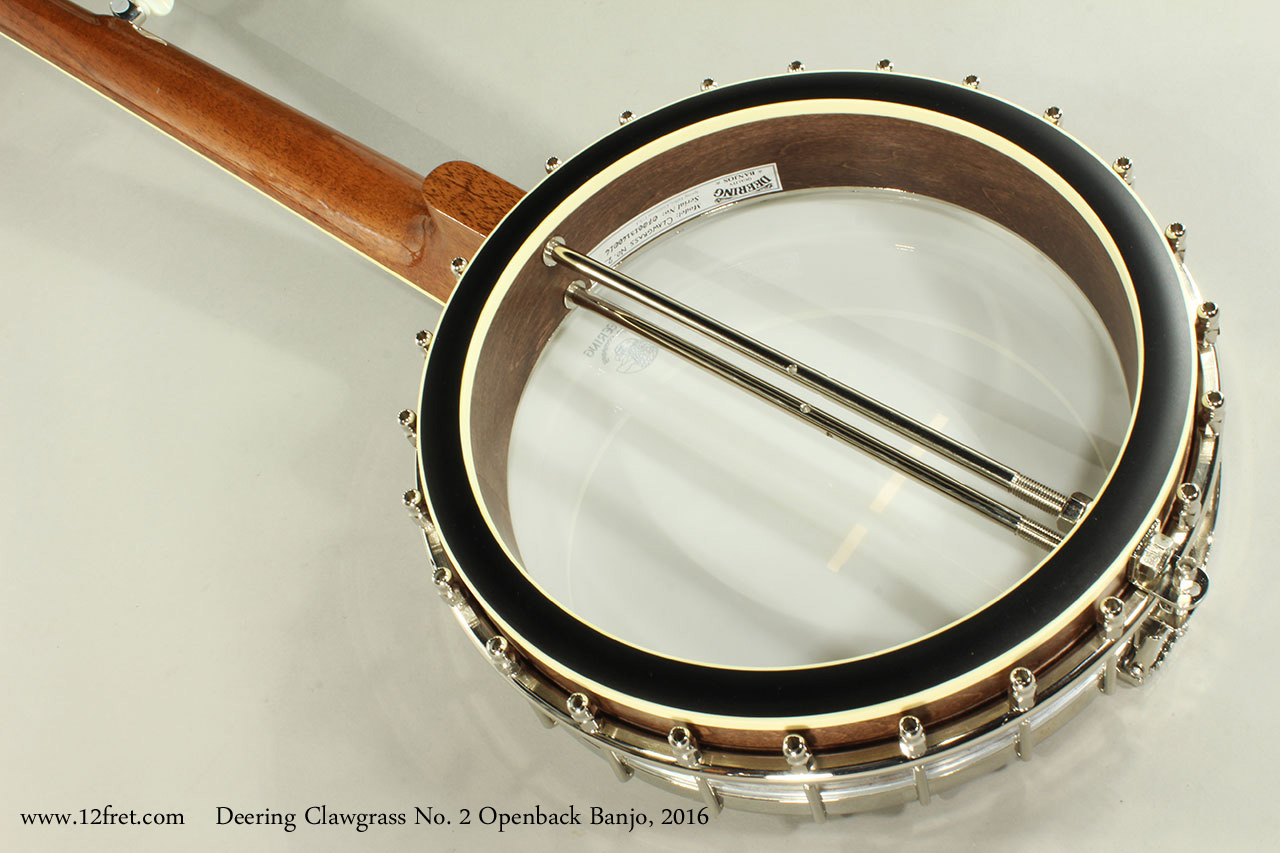 Deering Clawgrass No. 2 Openback Banjo, 2016 Rear View