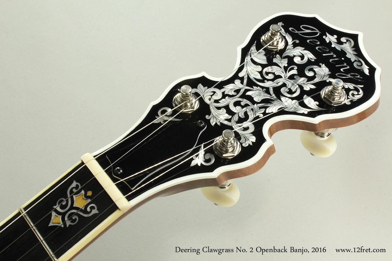 Deering Clawgrass No. 2 Openback Banjo, 2016 Head Front View