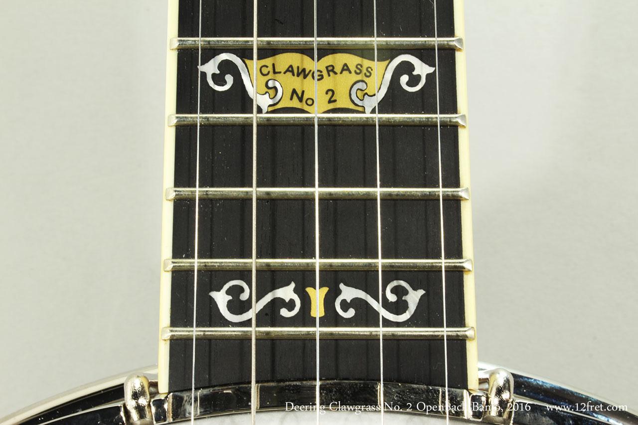 Deering Clawgrass No. 2 Openback Banjo, 2016 Clawgrass Inlay
