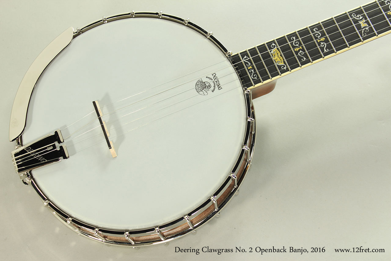 Deering Clawgrass No. 2 Openback Banjo, 2016 Top View