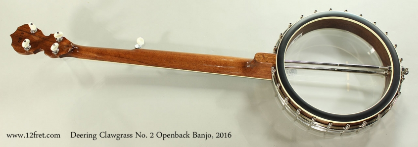 Deering Clawgrass No. 2 Openback Banjo, 2016 Full Rear View