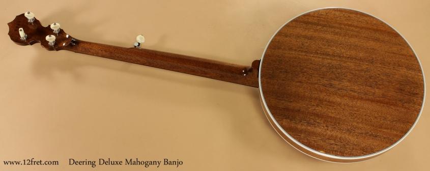 Deering Deluxe Mahogany Banjo full rear view