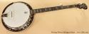 Deering Deluxe Mahogany Banjo full front view