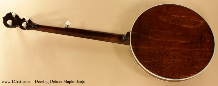 Deering Deluxe Maple Banjo full rear view