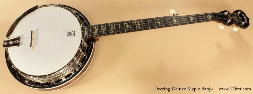 Deering Deluxe Maple Banjo full front view