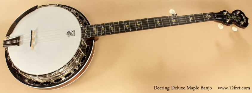Deering Deluxe Maple Banjo full front view