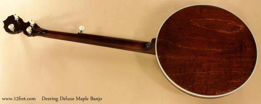 Deering Deluxe Maple Banjo full rear view