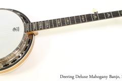 Deering Deluxe Mahogany Banjo, 2011   Full Front View