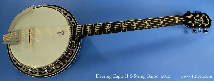 Deering Eagle II Six String Banjo Full Front View