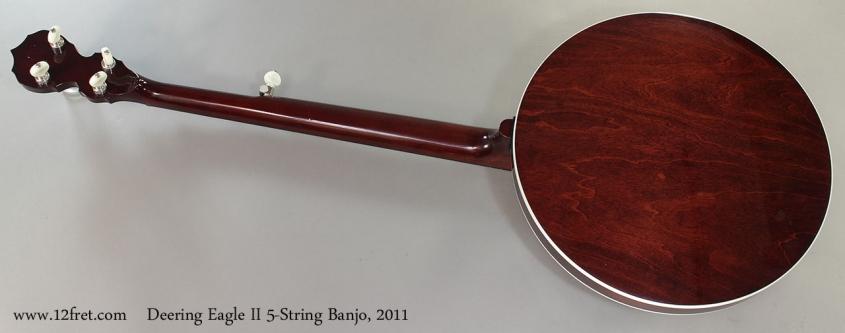 Deering Eagle II 5-String Banjo, 2011 Full Rear View
