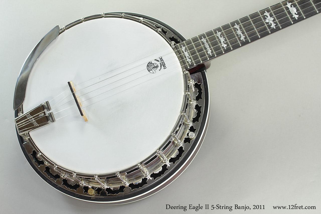 deering-eagle-ii-banDeering Eagle II 5-String Banjo, 2011 Top