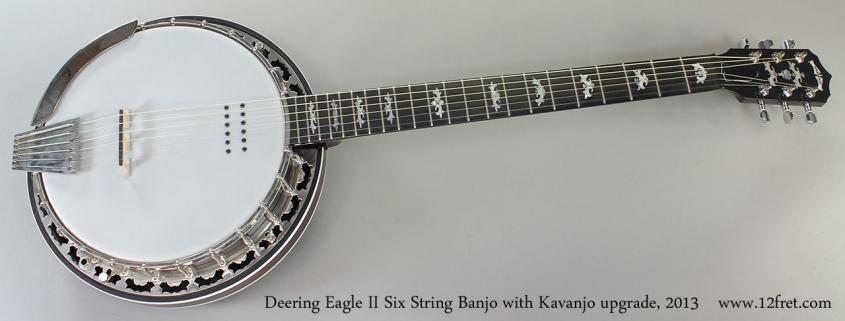 Deering Eagle II Six String Banjo with Kavanjo upgrade, 2013 Full Front VIew