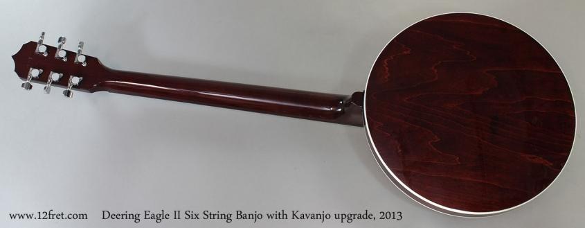 Deering Eagle II Six String Banjo with Kavanjo upgrade, 2013Full Rear View