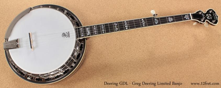 Deering GDL Greg Deering Limited Banjo full front view
