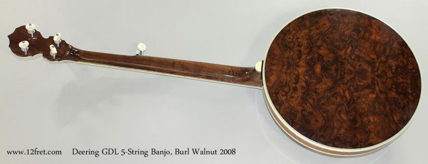 Deering GDL 5-String Banjo, Burl Walnut 2008 Full Rear View