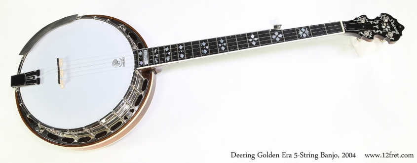 Deering Golden Era 5-String Banjo, 2004  Full Front View
