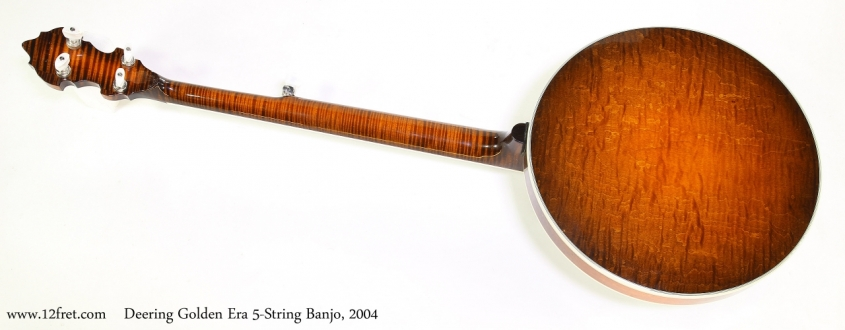 Deering Golden Era 5-String Banjo, 2004  Full Rear View
