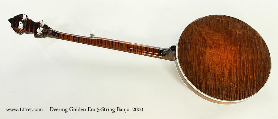 Deering Golden Era 5-String Banjo, 2000 Full Rear View